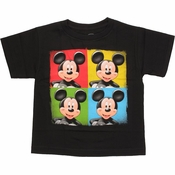Mickey Mouse Color Quadrants Juvenile T Shirt