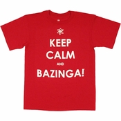 Big Bang Theory Keep Calm Bazinga T Shirt