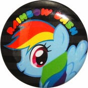 My Little Pony Rainbow Dash Name Button