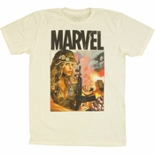 Ms Marvel Soldier T Shirt Sheer