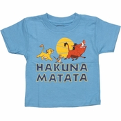 Lion King Hakuna Matata Toddler T Shirt