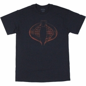 GI Joe Faded Cobra Logo Navy T Shirt