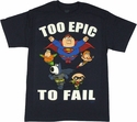 Family Guy DC Too Epic to Fail T Shirt