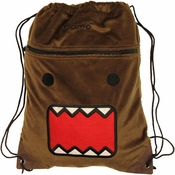 Domo Kun Furry Drawstring Backpack