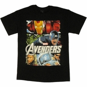 Avengers Movie Panels T Shirt