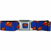 Superman Logos Seatbelt Mesh Belt