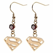 Superman Gold Earrings