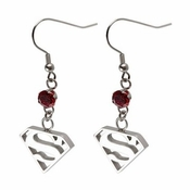 Superman Silver Earrings