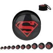 Superman Superboy Logo Plugs