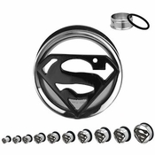 Superman Die Cut Steel Plugs