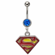 Superman Logo Belly Ring