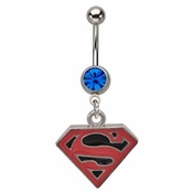 Superman Superboy Logo Belly Ring