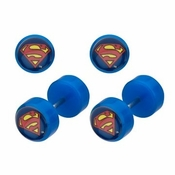 Superman Faux Plug Earrings