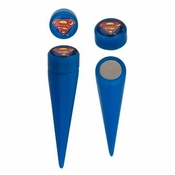 Superman Faux Taper Magnetic Earrings