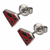 Superman Superboy Die Cut Stud Earrings