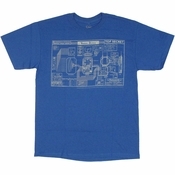Warehouse 13 Blueprint T Shirt