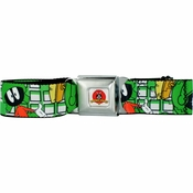 Looney Tunes Marvin Martian Seatbelt Mesh Belt
