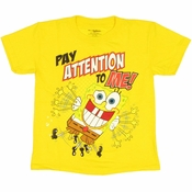 Spongebob Squarepants Attention Juvenile T Shirt