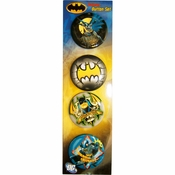 Batman Poses Logo Button Set