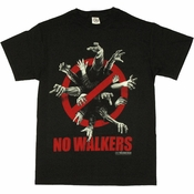 Walking Dead No Walkers T Shirt