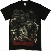 Walking Dead Zombie Horde T Shirt