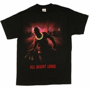 Nightmare on Elm Street All Night Long T Shirt