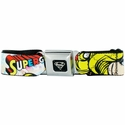 Supergirl Face Seatbelt Mesh Belt