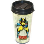 X Men Wolverine Comic Travel Mug