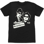 Blues Brothers Black White T Shirt Sheer