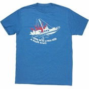 Jaws Bigger Boat Heathered T Shirt Sheer