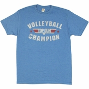 Top Gun Volleyball Champion T Shirt Sheer