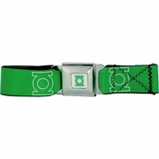 Green Lantern Logo Seatbelt Mesh Belt