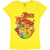 Muppets Group Youth Girls T Shirt
