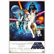 Star Wars New Hope Tin Sign