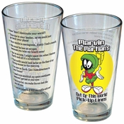 Looney Tunes Marvin Lines Pint Glass