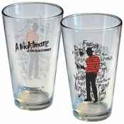Nightmare on Elm Street Words Pint Glass