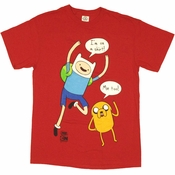 Adventure Time I'm On a Shirt Red T Shirt