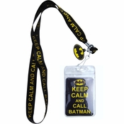 Batman Keep Calm Charm Lanyard
