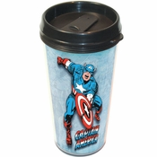 Captain America Comic Travel Mug