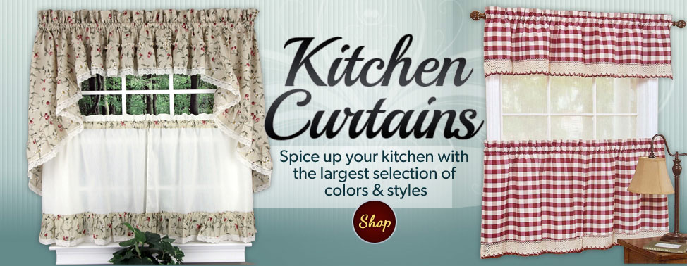 ... of the Largest Section of Kitchen Curtains, Valances & Lace Curtains