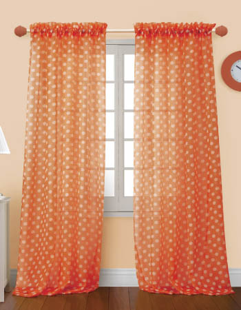 orange curtain