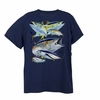 Aftco Guy Harvey Mens Tuna Collage Tee Shirts