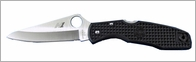 Spyderco C91PBK Pacific Salt Black FRN H-1 Plain Edge Knife