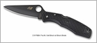 Spyderco C91PBBK Pacific Salt Black FRN H-1 Black Blade Plain Edge Knife