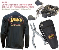 Lew's BB1 Baitcast Reel Promo - Free LS Microfiber Shirt or 6.5in Fishing Pliers