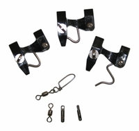 Lewis Fishing 203 Kite Pin Kit 3 Drilled with Swivels