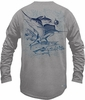 Salt Life SLM645 Men's Deep Sea Fade SLX LS Performance Tee