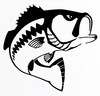 Steelfin Largemouth Bass Decals