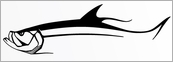 Steelfin Tarpon Decals - Large