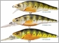 LIVETARGET Lures YPJ98M Yellow Perch Crankbait/Jerkbait Medium Dive 2 7/8""
